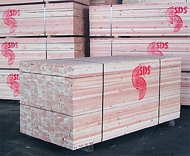 2nd pictured is a unit of SDS Doug Fir stud 2x4/8