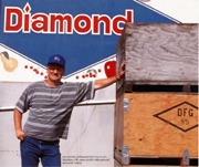 "Diamond Fruit Growers, Inc, Winner of the ""oldest plywood harvest bin"" contest"